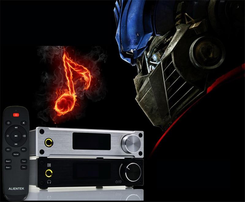 ASD Alientek D8 Full Pure Digital Audio Input USB/XMOS/Coaxial/Optics/AUX 80W*2 24Bit/192KHz DC28V Class d Power