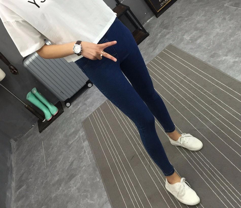 BIVIGAOS Basic Skinny Womens Jeans Ankle Pencil Pants Slim Elastic Denim Pants Jean Leggings Female Cotton Jeggings Jeans Women 29