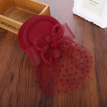 Sara Bowler Hat Fascinator — Red