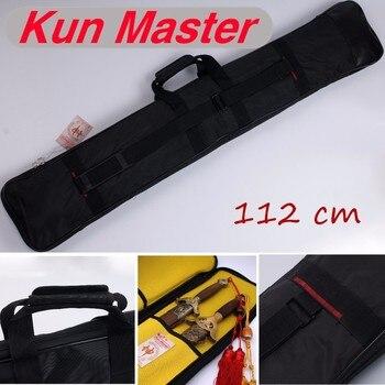 Сумка для ножей Tai Chi Wushu, сумка для ножей Kendo, чехол для ножей с ремнем и ручкой, 2 меча, 112 см