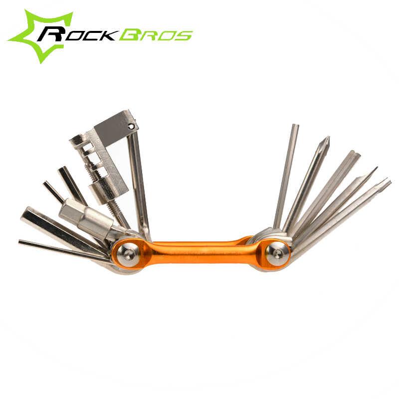 ROCKBROS Инструменты для ремонта велосипеда отвертка шестигранная цепь алюминиевый Мультитул mtb Горная дорога велосипед набор инструментов аксессуары