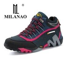 MILANAO Для женщин Открытый Треккинговые ботинки Нескользящие Кемпинг девушкой Сапоги и ботинки для девочек Mountain профессии Пеший Туризм спортивный Спортивная обувь для Для женщин