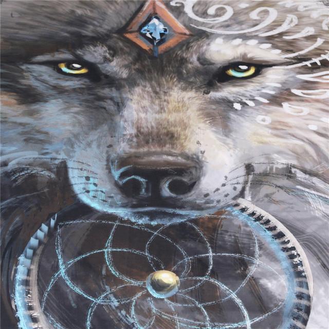 Wolf Warrior Indian Bedding Set