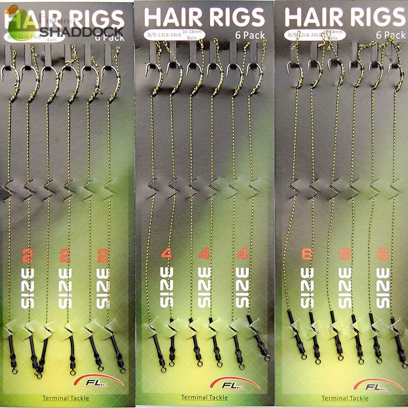 Aliexpress.com : Buy 36pcs Carp Fishing Hair Rigs Green Coated Braided Thread Loop 8245 Curve ...