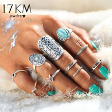 17KM Retro Pattern Mix Finger Midi Ring Sets Vintage Unicorn Steampunk Knuckle Rings for Women Man Fashion Boho Jewelry(China)