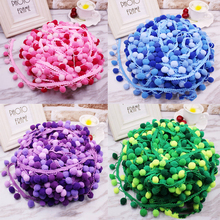 5yards Pom Trim Lace Fabric Sewing Accessories Pompons tassel Ball Fringes Ribbon For DIY Material Apparel