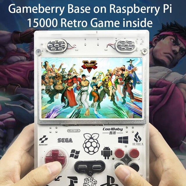 Gameberry Retropie Lakka Retro Pie Raspberry Pi 15000 Retro Gioco allinterno di Gioco Portatile 5 pollici di Schermo 10000mA Batteria