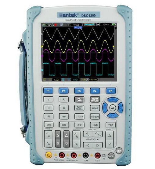 High quality Hantek DSO1200 Handheld Digital Oscilloscope 200MHz 2 channel scope DMM 500MS/s new dso5200 digital virtual oscilloscope hantek dso 5200 portable oscilloscope usb 200mhz 250ms s 2 channel
