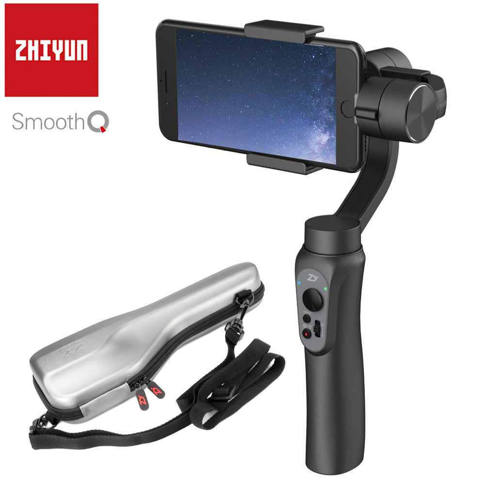 Zhiyun SMOOTH-Q Smooth Q Handheld 3-Axis Gimbal Portable Stabilizer Smartphone for iPhone X 8 7 6 Plus S8 S7 6 Vertical Shooting x cam sight2 2 axis smartphone handheld stabilizer mobile phone brushless gimbal with bluetooth for iphone samsung xiaomi nexus