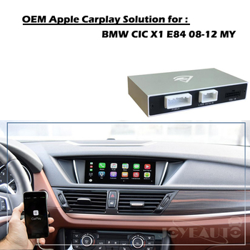 Aftermarket X1 E84 CIC 2008-2012 OEM Apple Carplay Android Auto Upgrade Smart Auto Box Retrofit for BMW Plug and Play  maserati granturismo carbon spoiler
