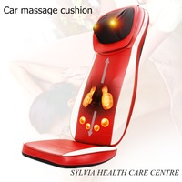Luxury red 3D mechanical massage pad Infrared Heating moving up&down back Car Massager Cushion Seat Cover 110 240V