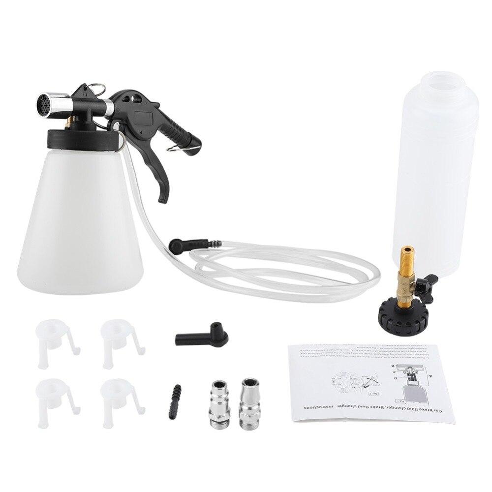 Car Brake Bleeder Bleeding Fluid Change Kit Air Pneumatic Garage Vacuum Tool Set 90 120PSI Brake