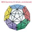 ¡ Nuevo! Marca MF8 Starminx III (Negro, Unstickered)/Stickerless Cubo Mágico Puzzle Twsit PuzzleLearning Educación Juguetes para Los Niños