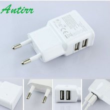 EU Plug Dual USB 5V 2A Wall Charger Adapter USB Charger Travel Power 2 USB Port for iPhone 5s for iPad Galaxy S3 S4 Note 3 N9000(China)