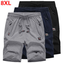 Plus size L~8XL men`s pure cotton knitting casual Beach Short Breathable Boardshorts Male Sweatpants Fitness joggers gym Shorts