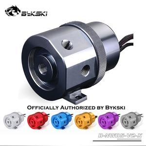 Bykski B-NWD5-V2-X d5 bomba de metal alumínio água refrigerar pwm cabeça 3.8m fluxo 1100l/h ouro vermelho preto cinza azul pmma