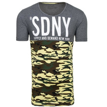 Zogaa 2019 Hot Sale Summer New Men Leisure Camouflage Contrast Color Patchwork Sgort Sleeved T-Shirts with 3 S-XXL