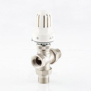 """Image 2 - 1/2 """"3/4"""" 1 """"messing drei Weg Thermostatventil DN15 DN20 DN25 Automatische Temperatur Regelventil Fußbodenheizung heizung"""