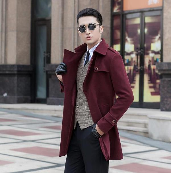 Red Wool Coat Men | Down Coat