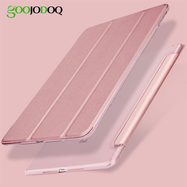 Для iPad 9,7 2017 2018 чехол, ультра тонкий из искусственной кожи Smart Cover + PC Жесткий задний трехкратный стенд для iPad 2018 чехол 9,7 A1822 A1893