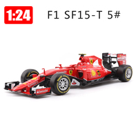 Bburago 1:24 Alloy Car Formula Racing Car Model SF15 Sports Cars Toys Children Boy New Years Gift