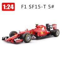 Bburago 1:24 Alloy Car Formula 1 Racing Car Model SF15 Sports Cars Toys Children Boy New Years Gift
