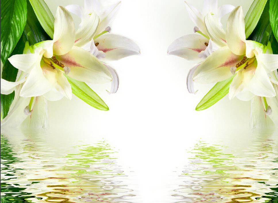 3d wallpaper for room white lilies simple background wall for 3d white flower wallpaper