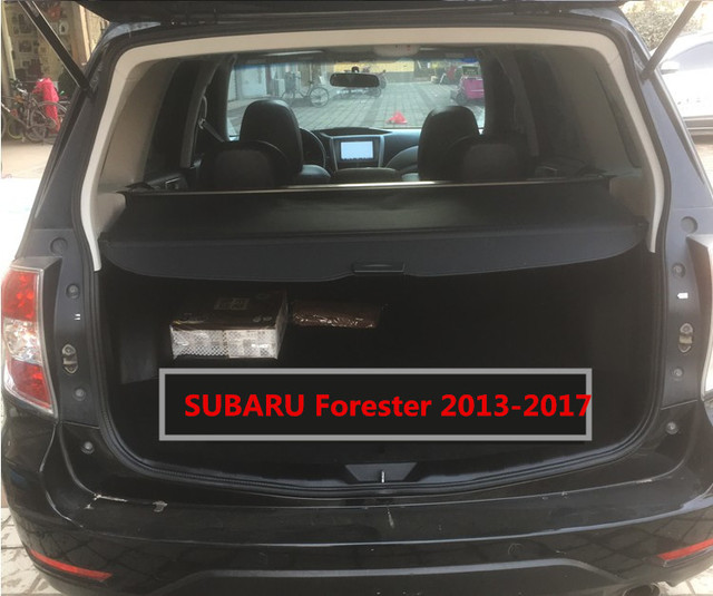 Car Rear Trunk Security Shield Cargo Cover For Subaru Forester 2017 2016 Manual Switch Tail Door Auto Accessories