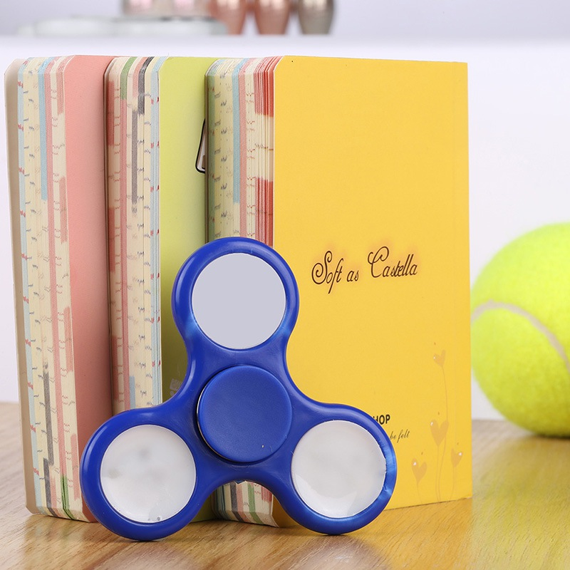 LED Lighting Hand Finger Spinner Fidget Plastic EDC Hand Spinner For Autism and ADHD Relief Focus Anxiety Stress Gift Toys