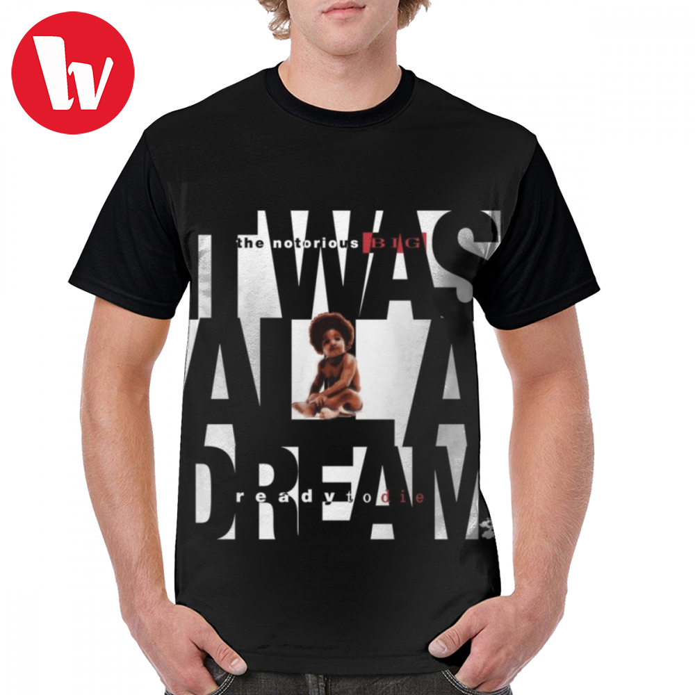 Notorious Big T Shirt It Was All A Dream - Cloud Nine White T-Shirt Printed 5x Graphic Tee Shirt Short-Sleeve Awesome Tshirt image