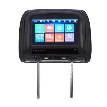 8 inch Car Headrest Monitor LCD Touch Screen Pillow Monitor Support USB SD Bluetooth Built-in Speaker car dvd player with 9 inch car headrest dvd player monitor with 800 480 touch screen speaker support usb sd games remote control
