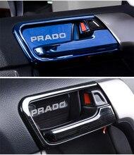 Per il 2010-2017 Toyota Land Cruiser Prado FJ150 150 Porte Interne Ciotola Maniglia del Coperchio Decorare Trim Chrome Car-styling Accessorie