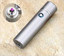 Электронная зажигалка Лидер продаж usb Перезаряжаемые дуги легче Ветрозащитный Непламено для сигар трубы подарок для мужа легче