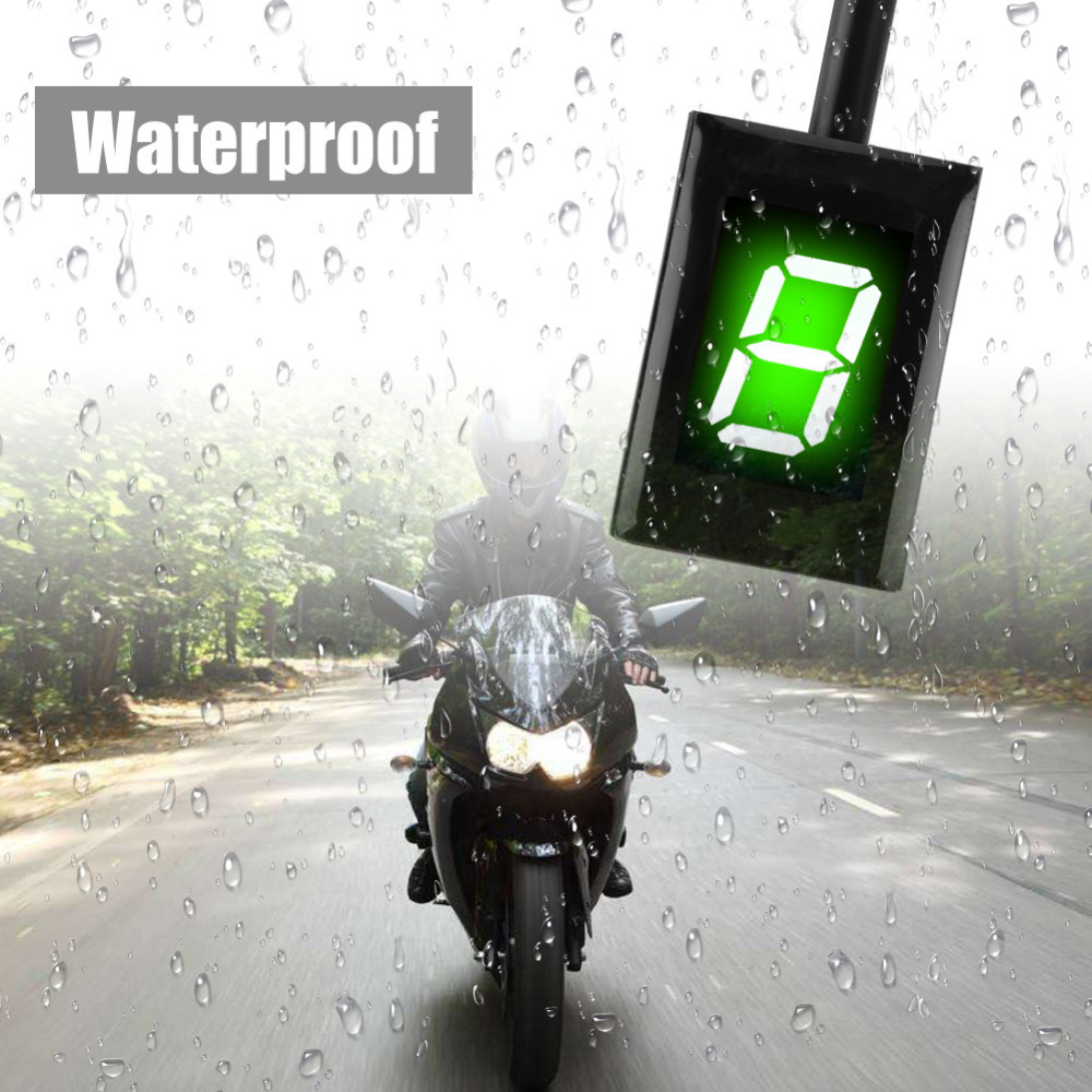 US $31 89 22% OFF Motorcycle Gear Indicator Motorbike ECU Plug Mount 6  Speed Digital Gear Indicator Shift Lever Display for Kawasaki Green  Display-in