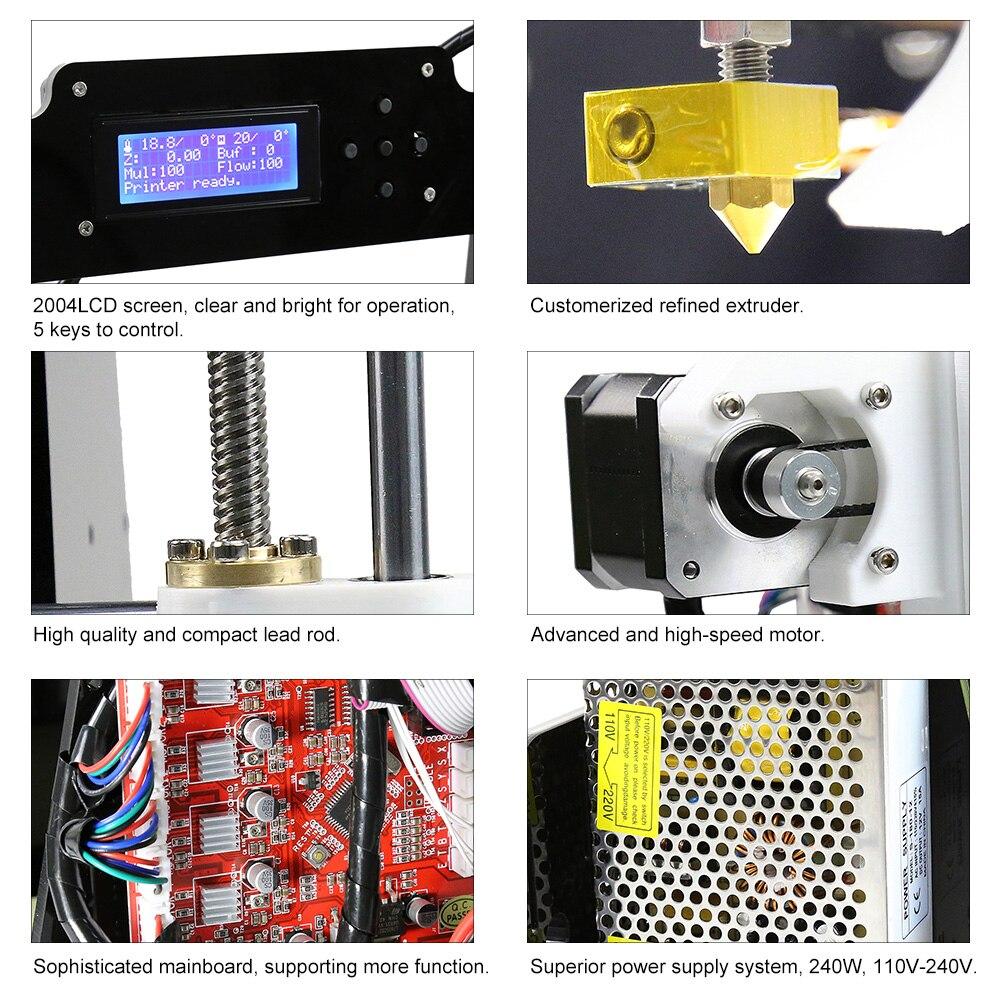Anet A8 Auto niveau A8 3d imprimante Prusa i3 3d kit imprimante bricolage 0.5 KG PLA filament comme cadeaux gratuite de moscou Russe Entrepôt - 5
