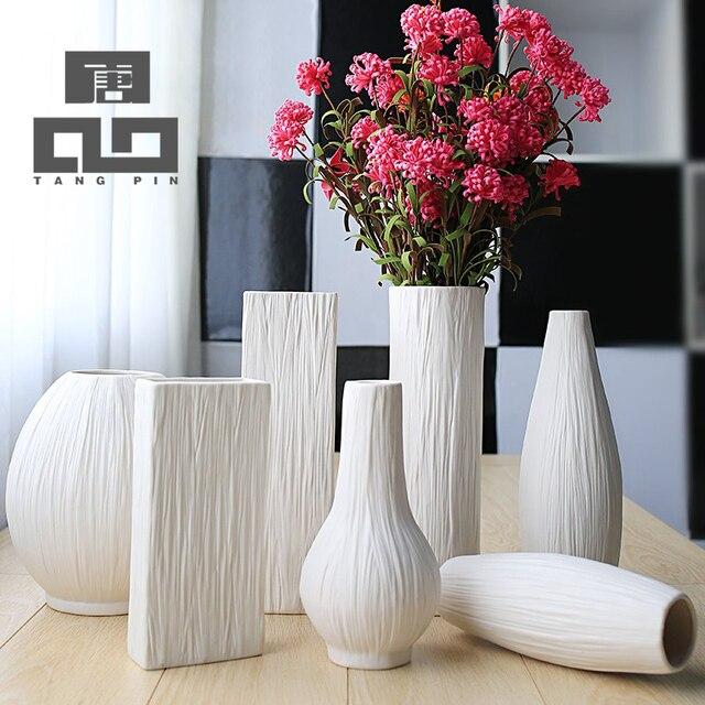 Tangpin européenne mode vase à fleur en céramique porcelaine vases décoratifs vaso pour la