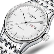 Швейцарские роскошные мужские часы карнавальный бренд часы Мужские автоматические механические reloj hombre светящиеся часы сапфир C-8612G-7