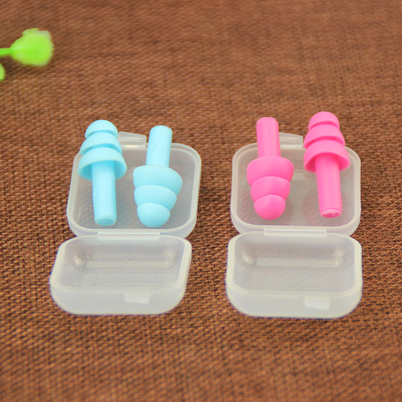 5 Pairs Silicone Ear Plugs Anti Noise Snore Earplugs with box Comfortable For Study Sleep Multi Colors