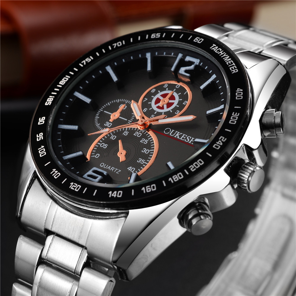 New Luxury Brand Watches Business Men Chronograph Watch Full Stainless Steel Sports Fashion Luminous Waterproof 30m Wristwatch  jedir brand watches men luxury business stainless steel quartz watch chronograph luminous clock male sports waterproof watches