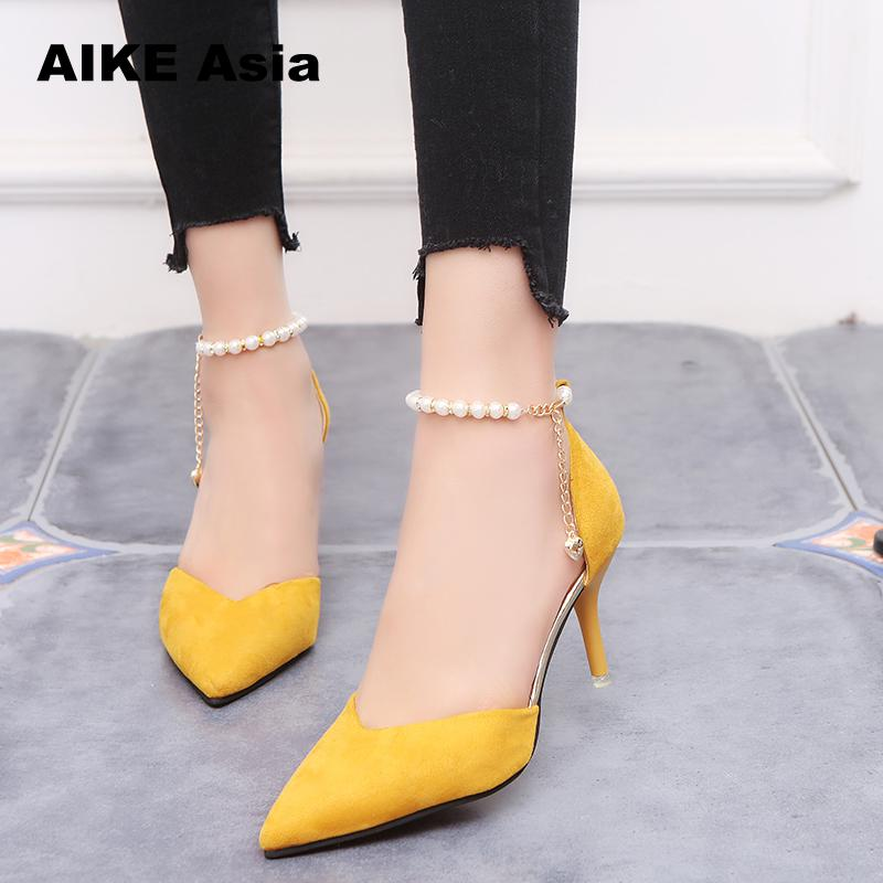 Shoes Female Fashion Sexy Hollow With Sandals Summer  Korean Version  Breathable Shoes Women Pumps High Heel   Wedding