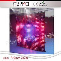 cheap price led video curtain P70mm 2m*2m indoor or semi outdoor high brightness programmable led video cloth screen