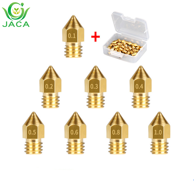 Mk8 brass nozzle 3d printer accessories 0.1mm 0.2mm0.3mm 0.4mm 0.5mm 0.6mm head for 1.75mm mk8 pointed brass nozzleMk8 brass nozzle 3d printer accessories 0.1mm 0.2mm0.3mm 0.4mm 0.5mm 0.6mm head for 1.75mm mk8 pointed brass nozzle