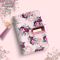 NEVER stationery rose series spiral notebook 2019 agenda organizer A6 planner personal diary book office and school supplies