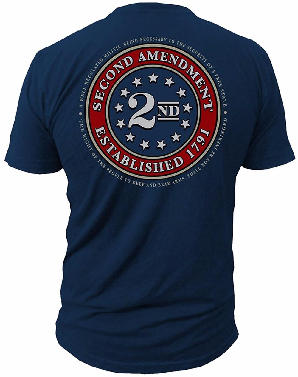 2018 Nouveau Tee Hommes T-shirt Vente Chaude Vêtements 2ème Amendement Marque joint de 1791 Vintag Drapeau Américain Deuxième 2A Fait des ETATS-UNIS T chemise