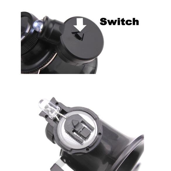 2 LED-es nagyító szemüveg-lupa nagyító ékszer-órával, - Mérőműszerek - Fénykép 6