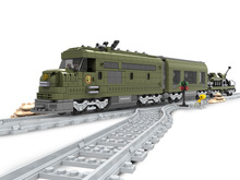 Building Block Sets Compatible with lego MILITARY TRAIN 764 pcs 3D Construction Bricks Educational Hobbies Toys for Kids