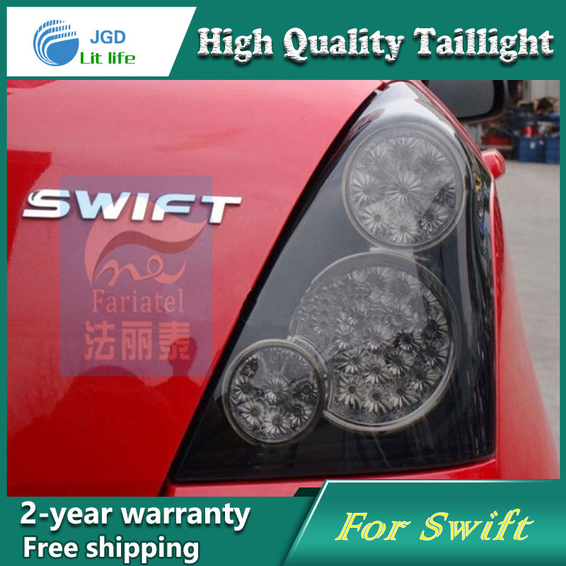Car Styling Tail Lamp for Suzuki Swift 2014 Tail Lights LED Tail Light Rear Lamp LED DRL+Brake+Park+Signal Stop Lamp one stop shopping styling for ix45 led tail lights 2014 new santa fe ix45 tail light rear lamp drl brake park signal