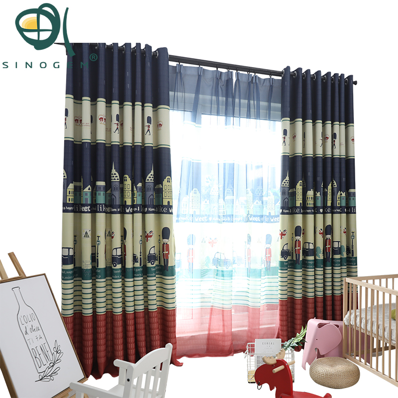 2018 Giraffe Pattern Modern Shade Blinds Thick Window Blackout Curtains for Children Living Room Bedroom Kids Fabric Rideaux