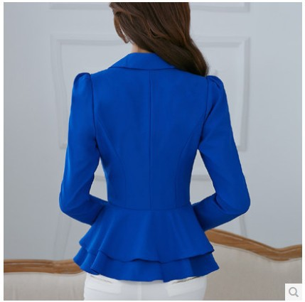 Images of Ladies Royal Blue Jacket - Reikian