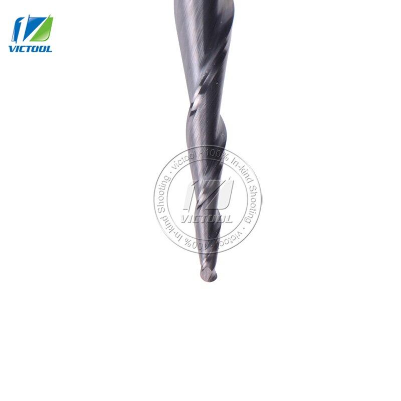 2 sztuk / partia R0.75 * D6 * 30.5 * 75L * 2F stożkowe węglikowe - Obrabiarki i akcesoria - Zdjęcie 3